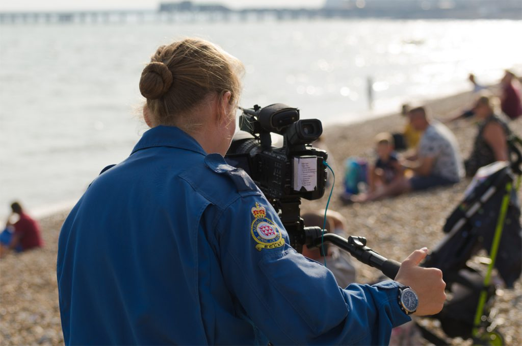 Rose Buchanan, one of the Red Arrows photographers.