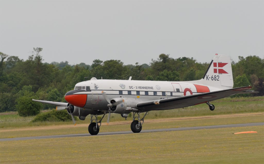 "DC-3 OY-BPB ""Gamle Dame"" from Denmark"