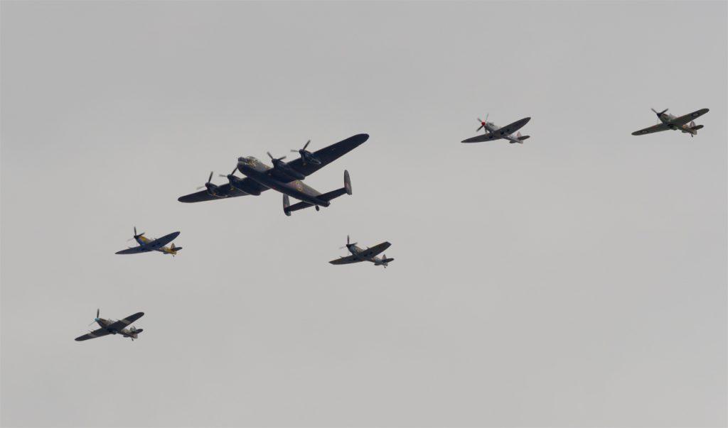BBMF Lancaster Hurricanes and Spitfires