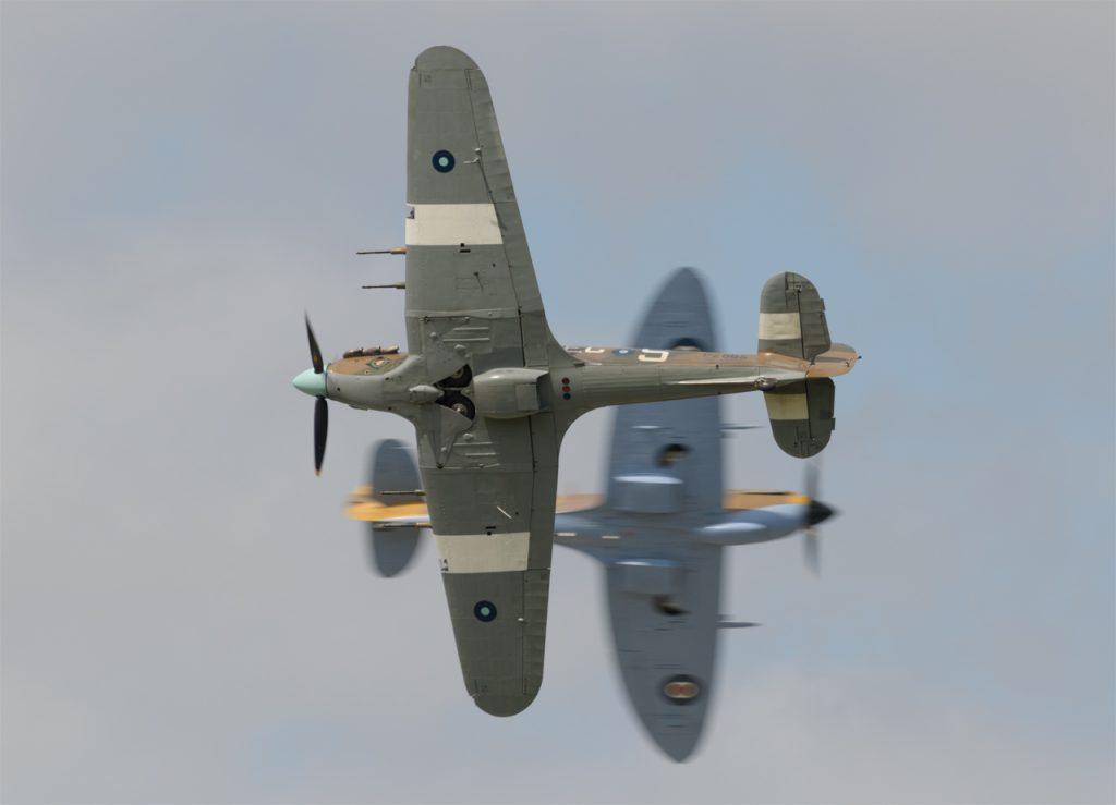BBMF Spitfire and Hurricane