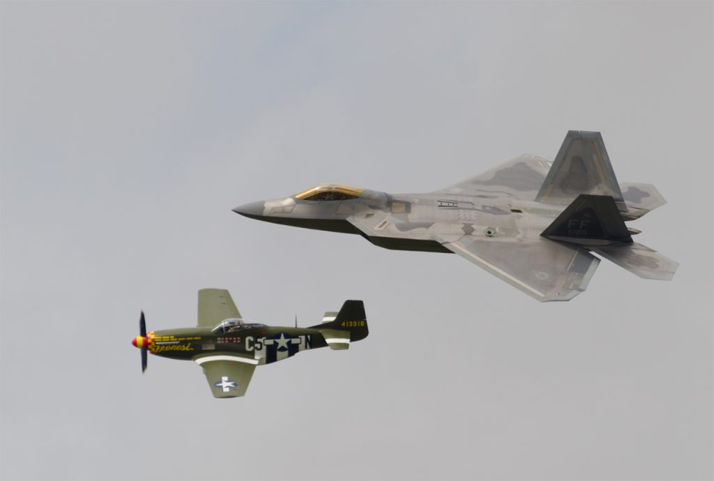 F-22 and Mustang
