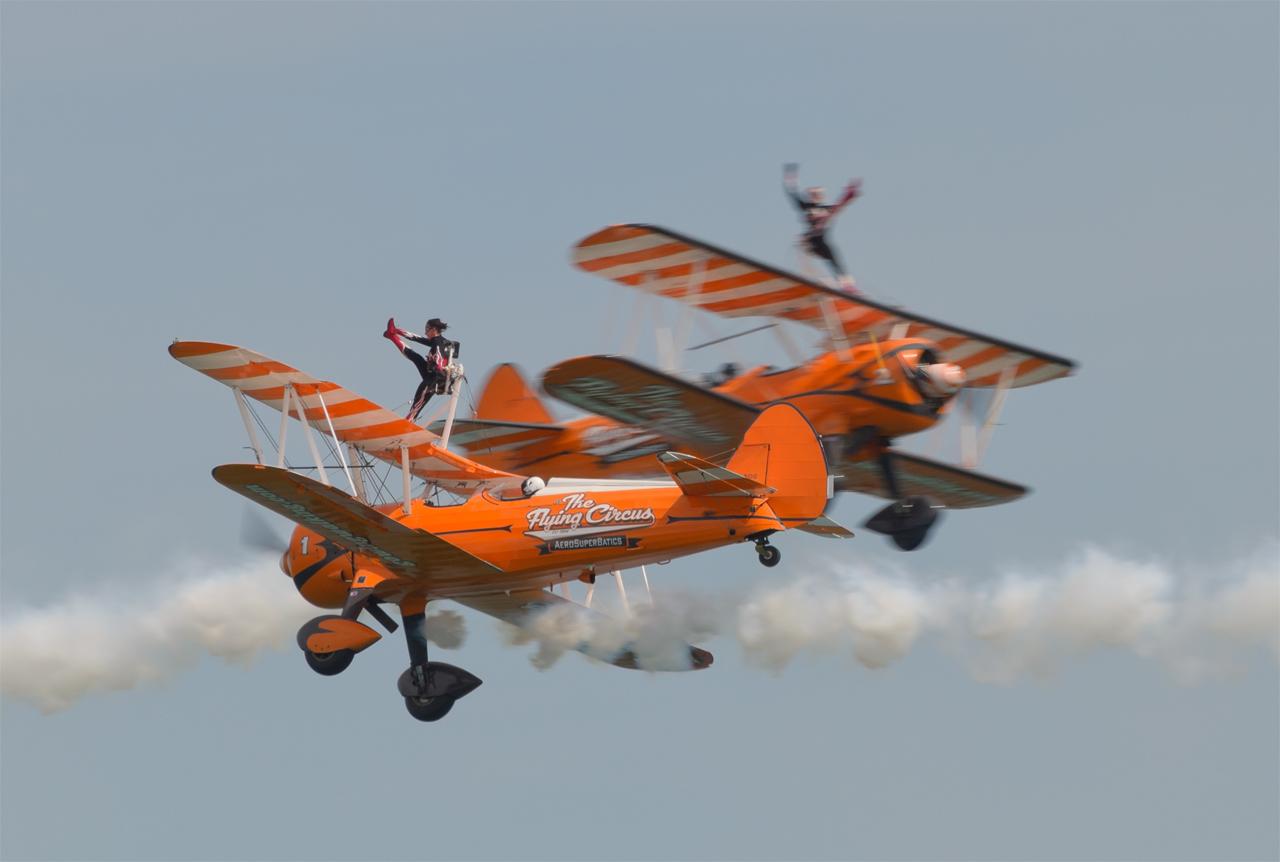 Eastbourne airshow 2018 - AeroSuperbatics Wingwalkers