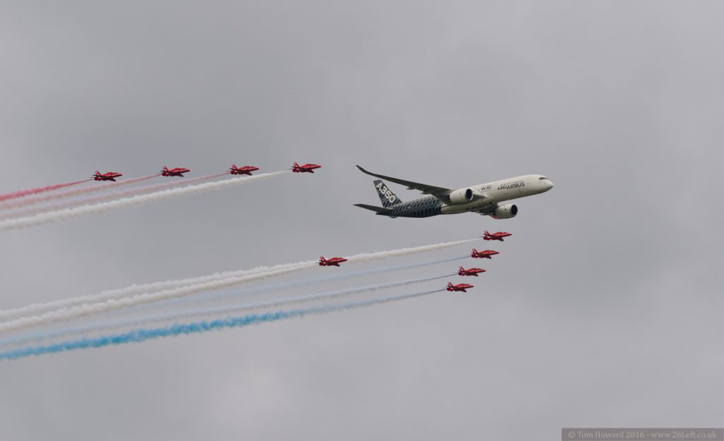 Airbus A350 XWB and Red Arrows