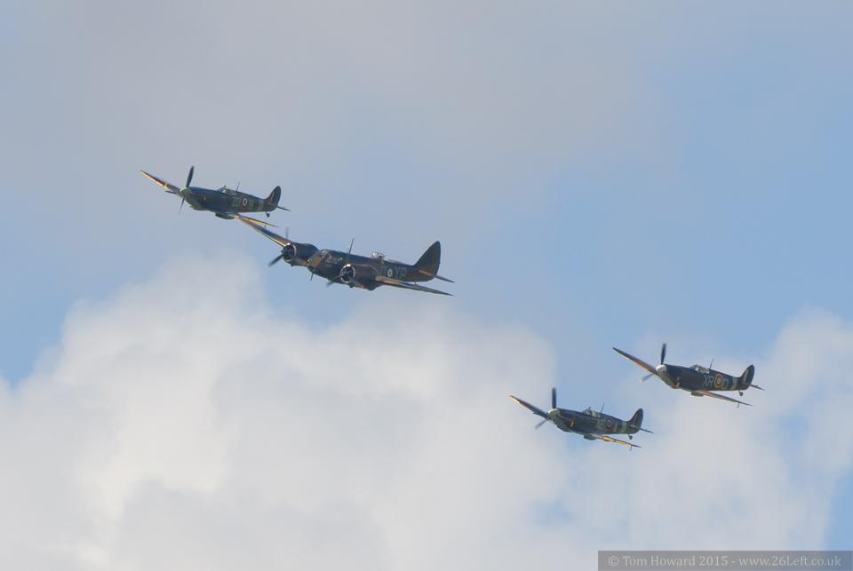 Battle of Britain flypast – Goodwood