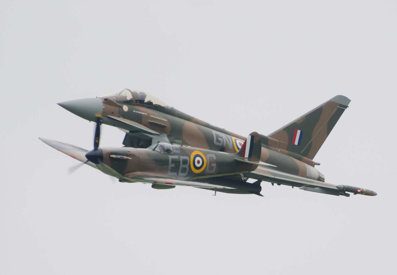 Typhoon and Spitfire - Dunsfold 2015