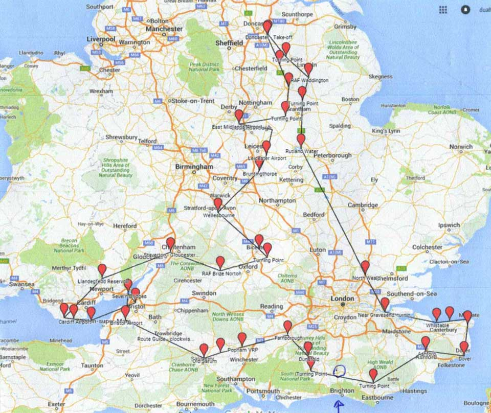 Vulcan farewell tour - southern route